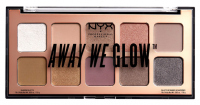 NYX Professional Makeup - AWAY WE GLOW - LOVEBEAM - SHADOW PALETTE - Paleta 10 cieni do powiek