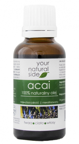 Your Natural Side - 100% naturalny olej z Acai - 30 ml