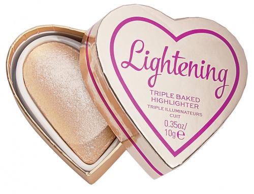 I Heart Revolution - TRIPLE BAKED HIGHLIGHTER - Wypiekany rozświetlacz do twarzy - LIGHTENING