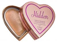 I Heart Revolution - TRIPLE BAKED HIGHLIGHTER - Wypiekany rozświetlacz do twarzy - HIDDEN