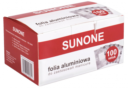 SUNONE - Folia aluminiowa do usuwania hybryd - 100 sztuk
