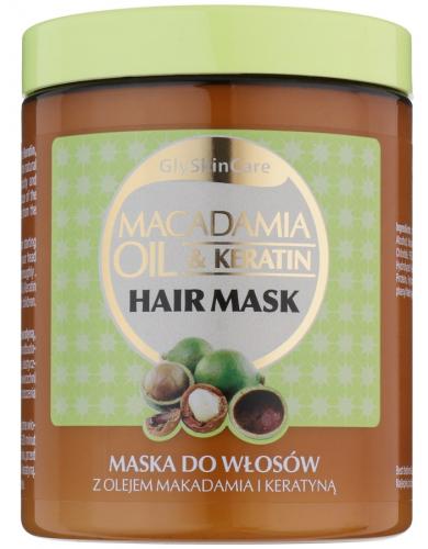 GlySkinCare - MACADAMIA OIL & KERATIN - HAIR MASK - Maska do włosów z olejem makadamia i keratyną