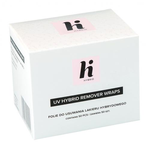 Hi Hybid - UV HYBRID REMOVER WRAPS - Folie do usuwania lakieru hybrydowego - 50 SZT.