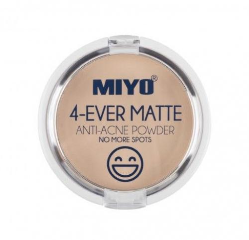 MIYO - 4-EVER MATTE - ANTI-ACNE POWDER - Prasowany puder matujący do skóry trądzikowej