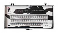 Ibra - ,,NATURALS'' FLARES EYELASH - KNOT-FREE - Kępki sztucznych rzęs - 0.07-C-8 mm - 0.07-C-8 mm