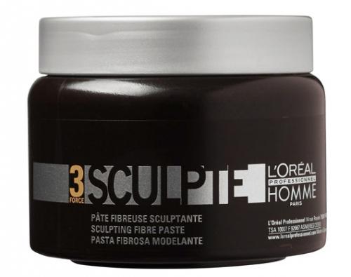 L'Oréal Professionnel - 3 SCULPTE - Włóknista pasta rzeźbiąca dla mężczyzn