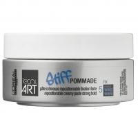 L'Oréal Professionnel - TECNI. ART - STIFF POMMADE - Mocno utrwalająca, kremowa pasta do włosów - 75 ml