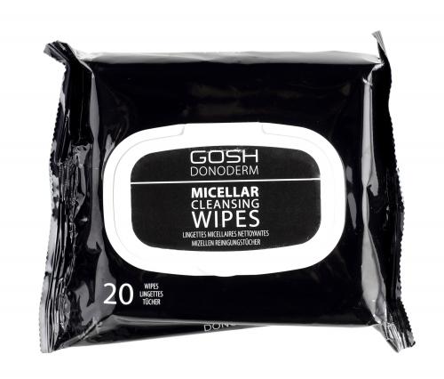 GOSH DONODERM - MICELLAR CLEANSING WIPES - Chusteczki do demakijażu