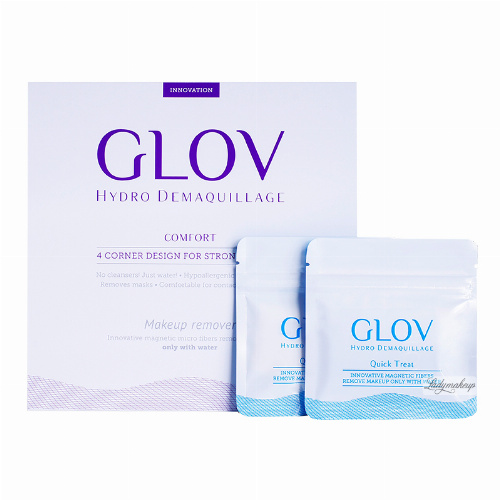 GLOV - Hydro Demaquillage - PLATINUM SET - COMFORT - ON-THE-GO - QUICK TREAT - Zestaw 3 rękawic do demakijażu