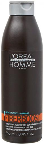 L'Oréal Professionnel - HOMME - FIBERBOOST - Szampon do włosów przywracający gęstość - Dla mężczyzn - 250 ml