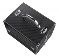 Cosmetic case - NS06 - BLACK STRIP BLACK FRAME