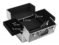Cosmetic case - PB1810 - SILVER DIAMOND 3D