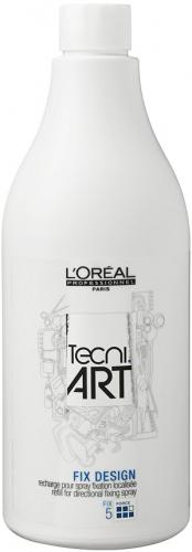 L'Oréal Professionnel - TECNI.ART - FIX DESIGN - Mocno utrwalający lakier do włosów - UZUPEŁNIENIE - 750 ml