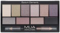 MUA - Eyeshadow Palette - Elysium Elements - Palette of 10 eye shadows + double eye crayon