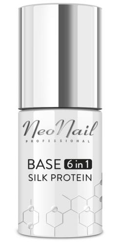 NeoNail - BASE 6in1 - SILK PROTEIN - Proteinowa baza pod lakier hybrydowy 6w1 - 7,2 ml