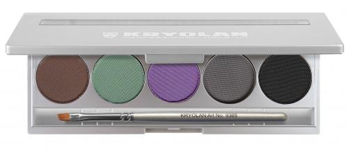 KRYOLAN - CAKE EYELINER SET - Zestaw 5 eyelinerów w kamieniu do robienia kresek na mokro - ART. 5329