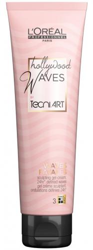L'Oréal Professionnel - TECNI.ART - HOLLYWOOD WAVES - SCULPTING GEL-CREAM - Krem modelujący dla podkreślania konturu loków i fal - 150 ml