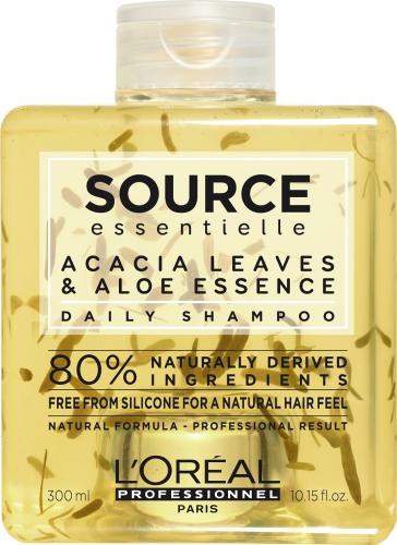 L'Oréal Professionnel - SOURCE ESSENTIELLE - DAILY SHAMPOO - Szampon dla każdego rodzaju włosów z uwzględnieniem potrzeb cienkich i normalnych pasm - 300 ml