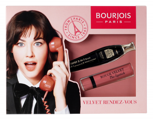 Bourjois - VELVET RENDEZ-VOUS - Twist up the Volume Mascara + Rouge Velvet Lipstick