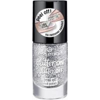 Essence - Glitter On, Glitter Off - Peel Off Nail Polish - Lakier do paznokci Peel Off - 01 - PUT A RING ON IT - 01 - PUT A RING ON IT