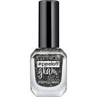 Catrice - #PeelOff Glam Nail Polish - Brokatowy lakier do paznokci Peel Off - 04 - GIRLS BITE BLACK - 04 - GIRLS BITE BLACK