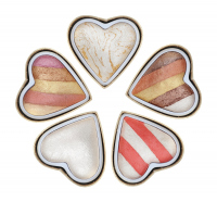 MAKEUP REVOLUTION - HEART HEAVEN BAKED HIGHLIGHTER - Set of 5 baked highlighters