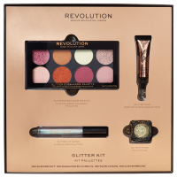 MAKEUP REVOLUTION - GLITTER KIT - Set of glittery makeup cosmetics