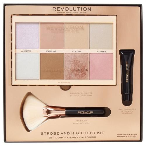 MAKEUP REVOLUTION - STROBE AND HIGHLIGHT KIT - Face highlighting gift set
