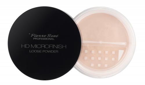 Pierre René - HD MICROFINISH LOOSE POWDER - Transparentny puder z efektem HD