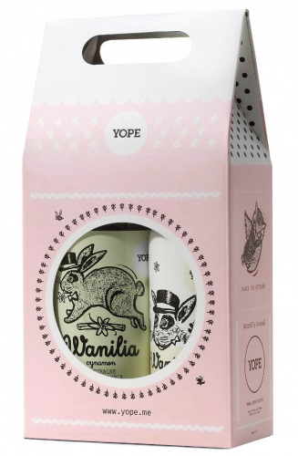 YOPE - Gift set - Hand and body lotion Vanilla, cinnamon 500 ml + Liquid soap Vanilla, cinnamon 500 ml