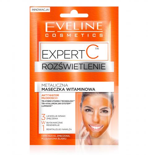 EVELINE - EXPERT C - ROZŚWIETLENIE - Metaliczna maseczka witaminowa