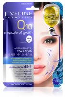 Eveline Cosmetics - MULTI ACTION 8in1 - Q10 Ampoule of Youth - Przeciwzmarszczkowa koreańska maska w płacie