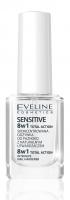 EVELINE - NAIL THERAPY PROFFESSIONAL 8in1 Total Action Sensitive - Skoncentrowana odżywka do wrażliwych paznokci z kwarcem