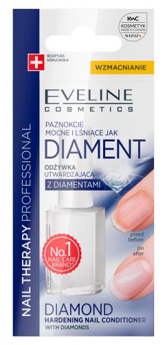 EVELINE - NAIL THERAPY PROFFESSIONAL - Diamond Hardening Nail Conditioner - Utwardzająca odżywka do paznokci z diamentami