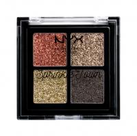 NYX Professional Makeup - Sprinkle Town Cream Glitter Palette - Paleta 4 brokatowych cieni - 002 CHOCOLATE SHAKE