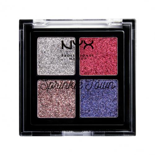 Nyx Professional Makeup - Sprinkle Town Cream Glitter Palette - Paleta 4 brokatowych cieni - 003 STRAWBERRY WHIP