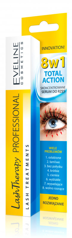 197199dc0f8 EVELINE - LASH THERAPY PROFESSIONAL Total Action Concentrated Eyelash Serum