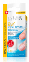 EVELINE - NAIL THERAPY PROFFESSIONAL 8in1 Total Action - Skoncentrowana odżywka do paznokci 8w1