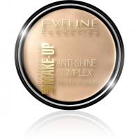 EVELINE - Art Make-Up - Anti-Shine Complex Pressed Powder - Puder mineralny z jedwabiem - 34 MEDIUM BEIGE - 34 MEDIUM BEIGE