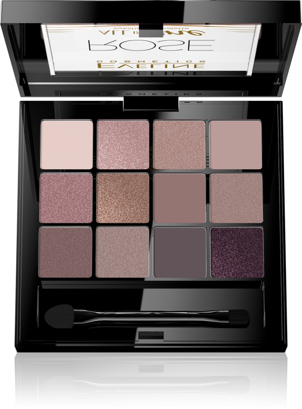 761759e6b95 EVELINE - All In One Eyeshadow Palette - 03 ROSE