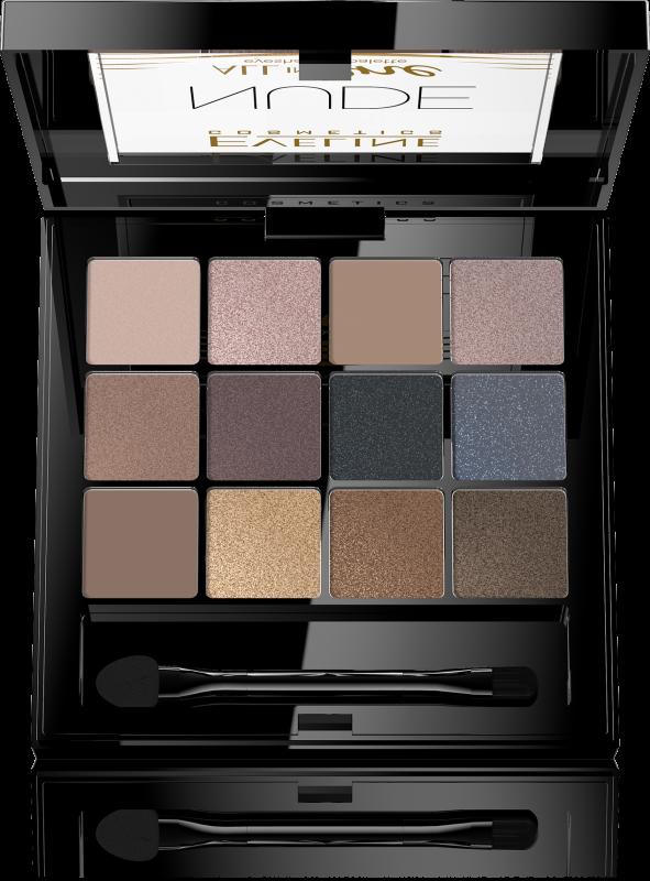 3df1296cd EVELINE - All In One Eyeshadow Palette - Palette of 12 eyeshadows - 01 NUDE