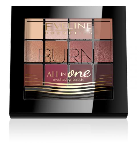 EVELINE - All In One Eyeshadow Palette - Paleta 12 cieni do powiek - 03 BURN