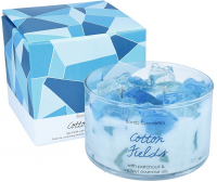 Bomb Cosmetics - Cotton Fields - Jelly Candle with Pure Patchouli & Vietiver Essential Oils - Świeca zapachowa z galaretką