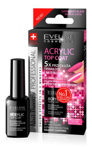 EVELINE - NAIL THERAPY PROFFESSIONAL Acrylic Top Coat - Top coat do paznokci przeciw odpryskom