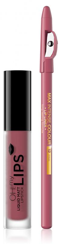 Eveline OH! My Lips Matt Lip Kit Zestaw Do Makijażu Ust