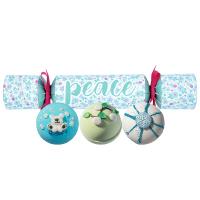Bomb Cosmetics - PEACE Cracker Gift Pack - Zestaw upominkowy w kształcie cukierka - SMAKOWITE ŚWIĘTA