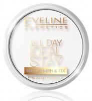 Eveline Cosmetics - All Day Ideal Stay Pressed Powder - Matująco-utrwalający puder do twarzy - 60 WHITE