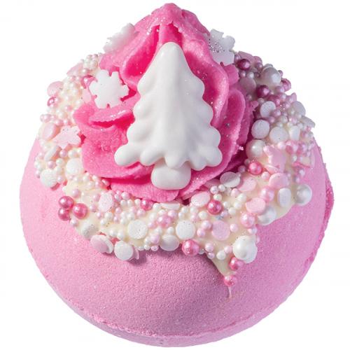 Bomb Cosmetics - Pink Christmas - Sparkling Bath Ball