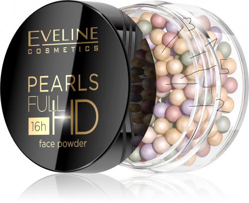 EVELINE - PEARLS FULL HD Face Powder - Korygujący puder CC do twarzy w kulkach