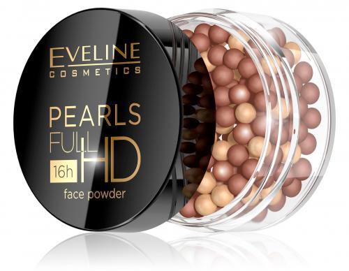EVELINE - PEARLS FULL HD Face Powder - Brązujący puder do twarzy w kulkach